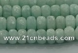 CAM1542 15.5 inches 5*8mm faceted rondelle peru amazonite beads