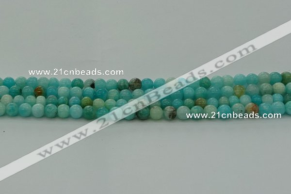 CAM1571 15.5 inches 6mm round Russian amazonite beads wholesale