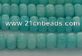 CAM1601 15.5 inches 4*6mm rondelle natural peru amazonite beads