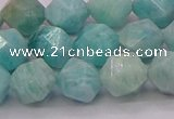 CAM1624 15.5 inches 12mm faceted nuggets amazonite gemstone beads