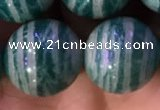 CAM1655 15.5 inches 14mm round Russian amazonite gemstone beads