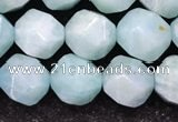 CAM1707 15.5 inches 10mm faceted nuggets amazonite gemstone beads