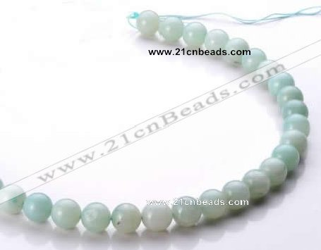 CAM18 15.5 inches round natural amazonite 10mm beads wholesale
