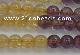 CAN102 15.5 inches 6mm round ametrine beads wholesale