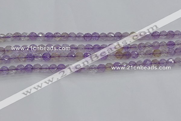 CAN106 15.5 inches 4.5mm faceted round ametrine gemstone beads