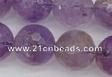 CAN156 15.5 inches 16mm faceted round natural ametrine beads