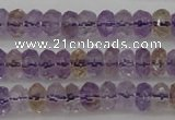 CAN158 15.5 inches 4*6mm faceted rondelle natural ametrine beads