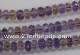 CAN16 15.5 inches 5*8mm faceted rondelle natural ametrine beads