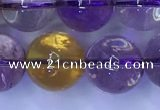 CAN223 15.5 inches 12mm round ametrine gemstone beads wholesale