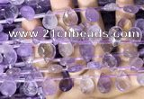 CAN239 Top drilled 10*14mm faceted briolette ametrine beads