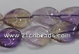 CAN54 15.5 inches 15*20mm twisted oval natural ametrine beads