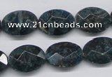 CAP10 15.5 inches 15*20mm faceted oval apatite gemstone beads wholesale