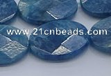 CAP394 15.5 inches 18*25mm faceted oval apatite gemstone beads
