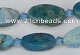 CAP552 15.5 inches 10*18mm oval apatite gemstone beads