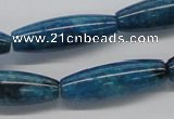 CAP59 15.5 inches 10*30mm rice dyed apatite gemstone beads wholesale