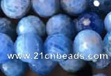 CAP594 15.5 inches 8mm faceted round apatite gemstone beads