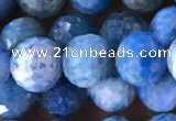 CAP595 15.5 inches 9mm faceted round apatite gemstone beads