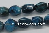 CAP61 15.5 inches 13*15mm nugget dyed apatite gemstone beads wholesale