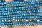 CAP650 15.5 inches 4mm round natural apatite beads wholesale