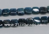 CAP70 15.5 inches 8*8mm square dyed apatite gemstone beads wholesale