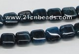 CAP71 15.5 inches 10*10mm square dyed apatite gemstone beads wholesale