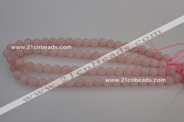 CAQ483 15.5 inches 10mm round natural pink aquamarine beads