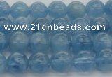 CAQ544 15.5 inches 6mm round AAAA grade natural aquamarine beads