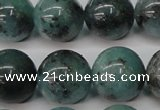 CAQ606 15.5 inches 16mm round aquamarine gemstone beads