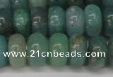 CAQ613 15.5 inches 7*12mm rondelle aquamarine gemstone beads