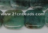 CAQ641 15.5 inches 20*20mm square aquamarine gemstone beads