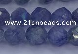 CAQ775 15.5 inches 14mm faceted nuggets imitation aquamarine beads