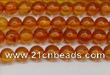 CAR107 15.5 inches 5mm round natural amber beads