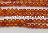 CAR110 15.5 inches 3mm round natural amber beads