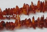 CAR117 16 inches 2*6mm - 3*10mm natural amber chips beads