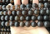 CAR223 15.5 inches 13mm round natural amber beads wholesale