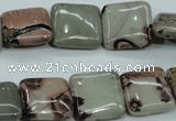 CAR23 15.5 inches 15*15mm square artistic jasper beads wholesale