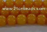 CAR402 15.5 inches 8mm round synthetic amber beads wholesale