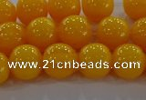 CAR403 15.5 inches 10mm round synthetic amber beads wholesale