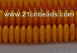 CAR409 15.5 inches 3*8mm rondelle synthetic amber beads wholesale