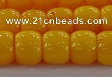 CAR412 15.5 inches 9*11mm drum synthetic amber beads wholesale