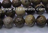 CAR51 15.5 inches 6mm round yellow artistic jasper beads