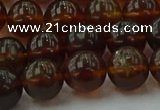 CAR529 15.5 inches 9mm - 10mm round natural amber beads wholesale