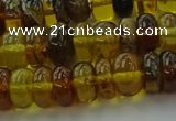 CAR539 15.5 inches 6*10mm rondelle natural amber beads wholesale