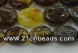 CAR545 15.5 inches 8*10mm - 9*11mm oval natural amber beads