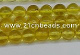 CAR559 15.5 inches 6mm - 6.5mm round natural amber beads wholesale