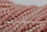 CAS02 15.5 inches 4mm round pink angel skin gemstone beads