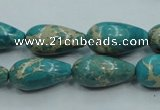 CAT06 15.5 inches 10*20mm teardrop natural aqua terra jasper beads