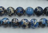CAT211 15.5 inches 8mm round dyed natural aqua terra jasper beads