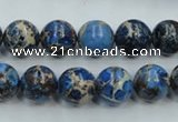 CAT212 15.5 inches 10mm round dyed natural aqua terra jasper beads
