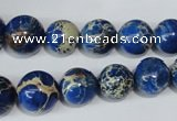 CAT300 15.5 inches 8mm - 18mm round dyed aqua terra jasper beads